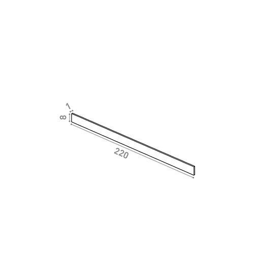 Plinthe 220X8cm | design lisse | laiton