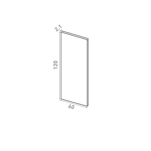 Porte 60X120cm | design U shape | laque mate