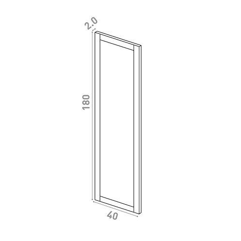 Porte 40x180cm | design cadre | chêne peint