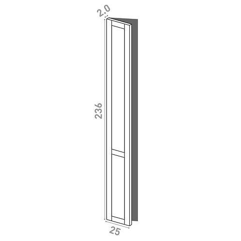 Porte 25x236cm - charnières à gauche | design cadre | chêne peint