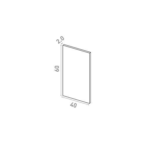 Porte 40X60cm | design lisse | chêne naturel