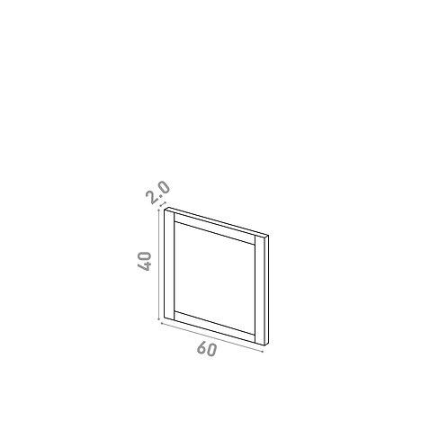 Porte 60X40cm | design cadre | chêne peint
