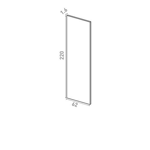 Panneau de finition 62X220cm | design lisse | chêne naturel