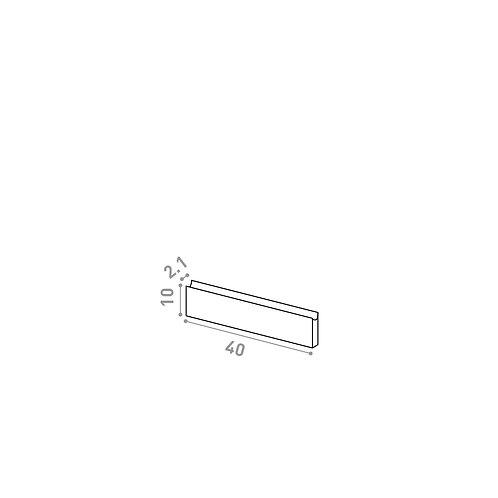 Tiroir 40X10cm   design U shape   laque mate