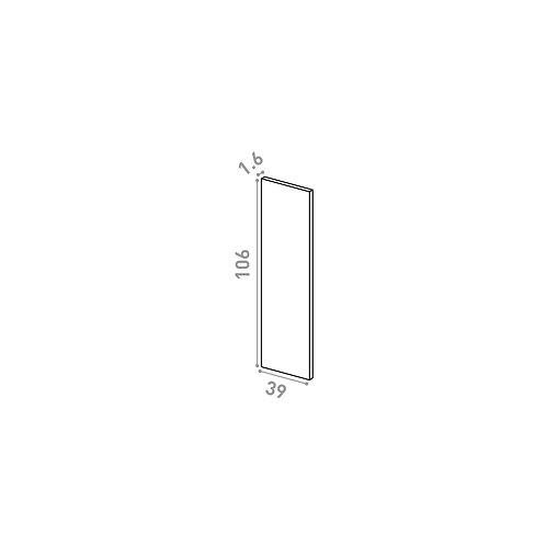 Panneau de finition 39X106cm | design lisse | noyer naturel