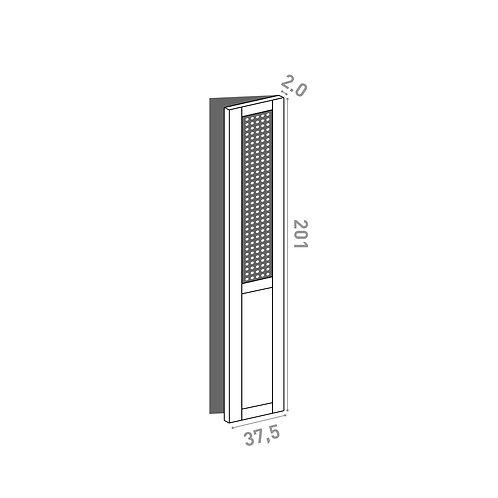 Porte 37.5x201cm - charnières à droite  | design cannage | chêne peint