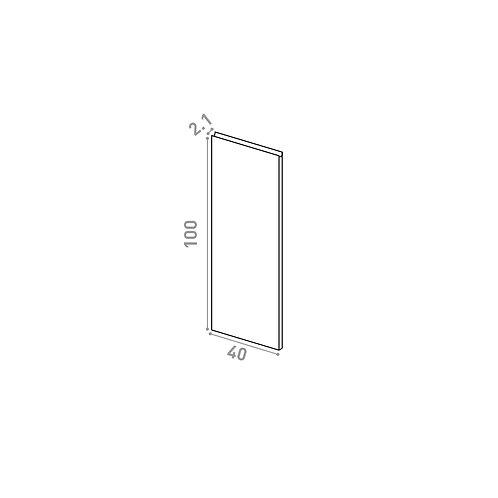 Porte 40X100cm | design U shape | noyer naturel