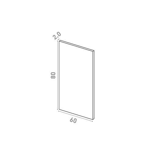 Porte 60X80cm | design lisse | noyer naturel (convient aux lave-vaisselles)