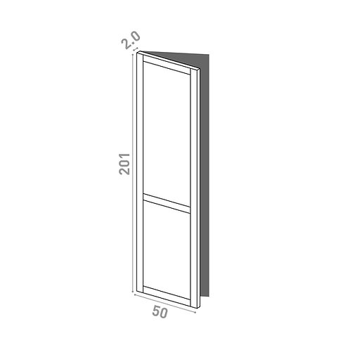 Porte 50x201cm - charnières à gauche | design cadre | chêne peint