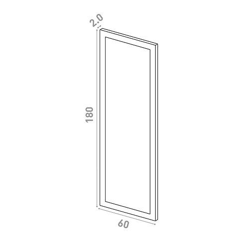Porte 60X180cm   design cadre   laque mate