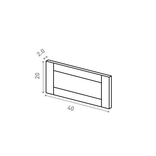 Tiroir 40X20cm | design cadre | chêne peint