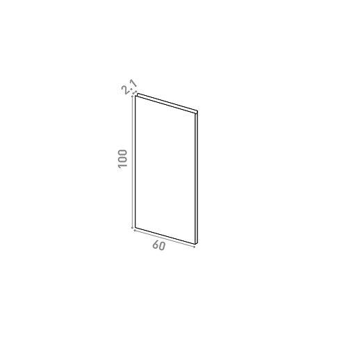 Porte 60X100cm | design U shape | chêne naturel