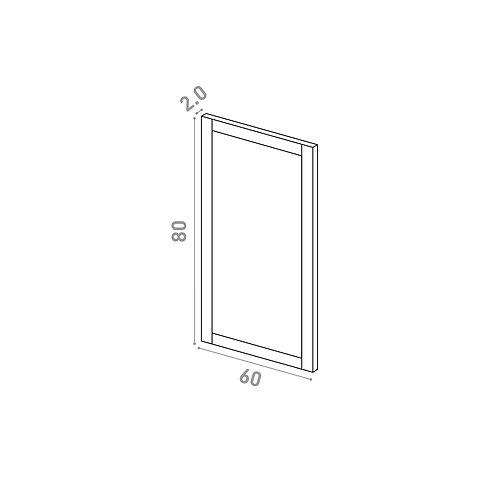 Porte 60X80cm | design cadre | chêne peint (convient aux lave-vaisselles)