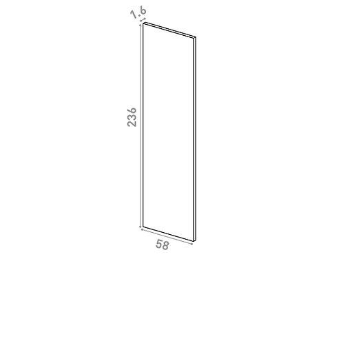 Panneau de finition 58x236cm | design lisse | chêne peint