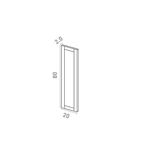 Porte 20X80cm | design cadre | chêne peint