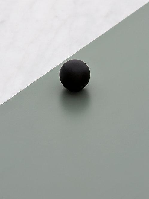 Poignée Bulle noir mat