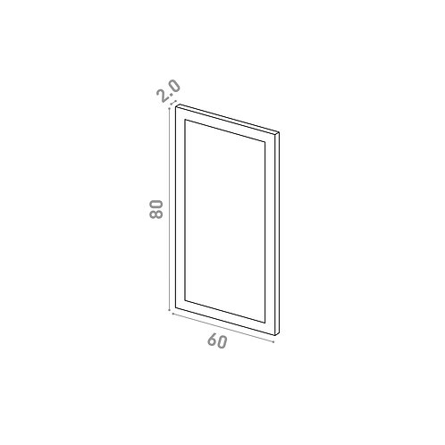 Porte 60X80cm | design cadre | laque mate