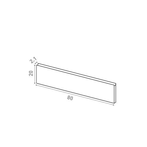 Tiroir 80X20cm | design U shape | laque mate