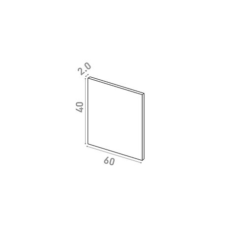Porte 60X40cm | design lisse | chêne naturel