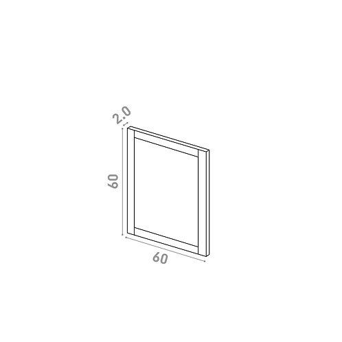 Porte 60X60cm | design cadre | chêne peint