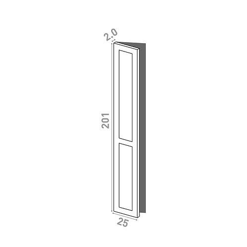 Porte 25x201cm - charnières à gauche | design cadre | laque mate
