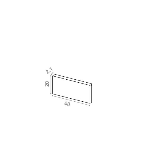 Tiroir 40X20cm | design U shape | noyer naturel