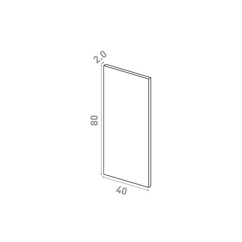 Porte 40X80cm | design lisse | laque mate