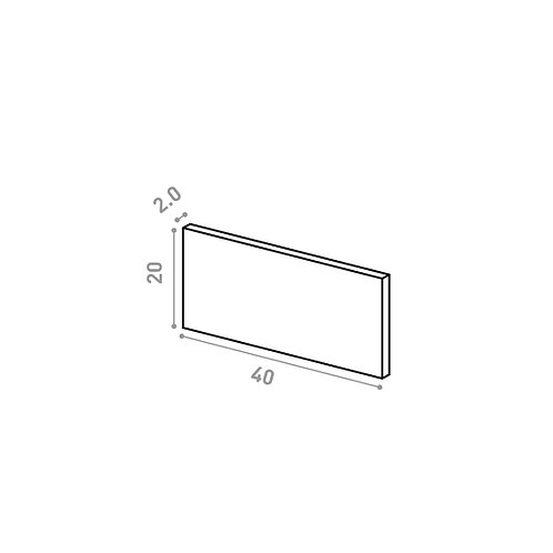 Tiroir 40X20cm | design lisse | noyer naturel