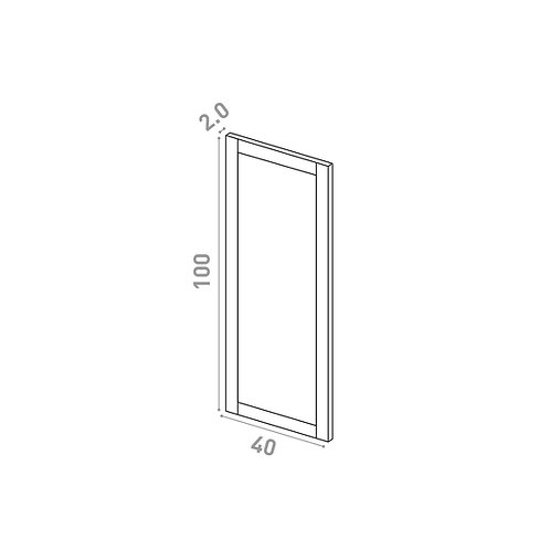Porte 40X100cm | design cadre | chêne peint