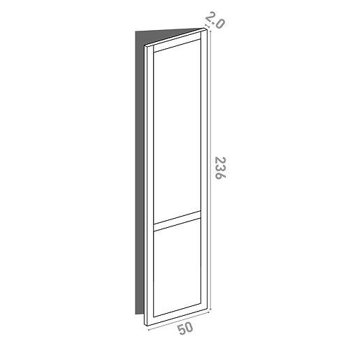 Porte 50x236cm - charnières à droite    design cadre   chêne peint