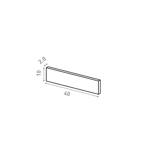 Tiroir 40X10cm | design lisse | chêne peint