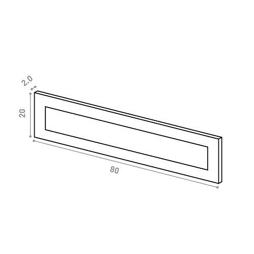 Tiroir 80X20cm | design cadre | laque mate