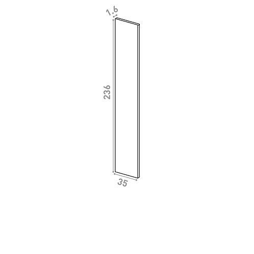 Panneau de finition 35x236cm | design lisse | chêne peint