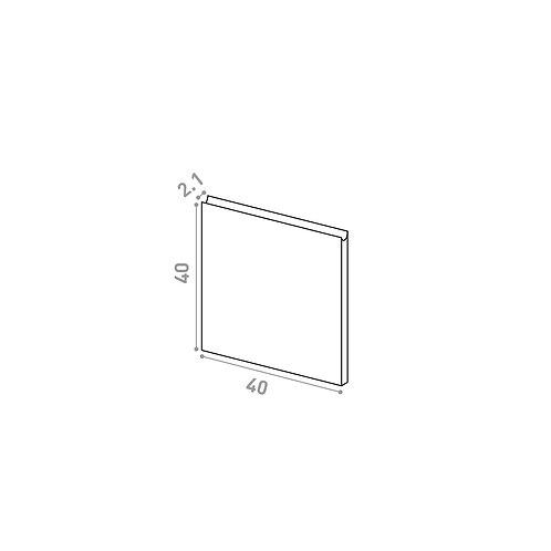 Tiroir 40X40cm | design U shape | noyer naturel (ou porte à ouv. vers le haut)