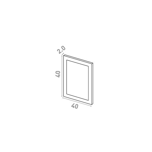 Porte 40X40cm | design cadre | laque mate