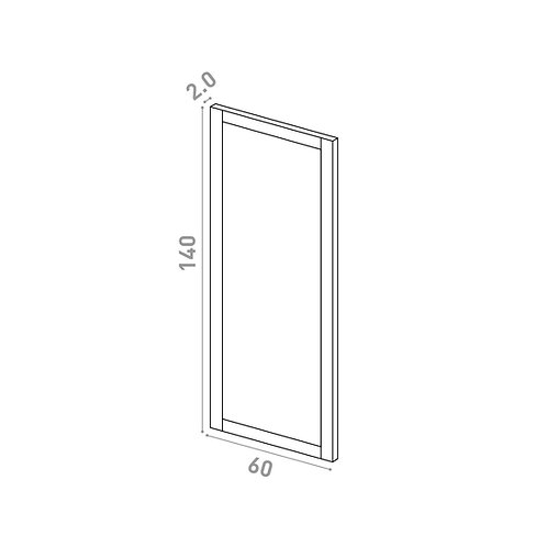 Porte 60X140cm | design cadre | chêne peint