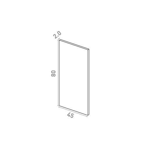 Porte lave-vaisselle 45X80cm | design lisse | chêne naturel