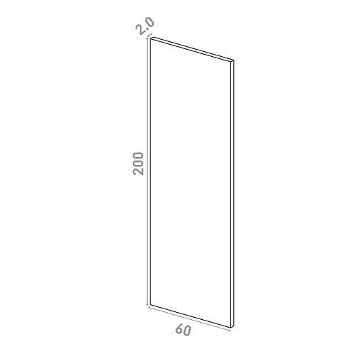 Porte 60X200cm | design lisse | chêne peint