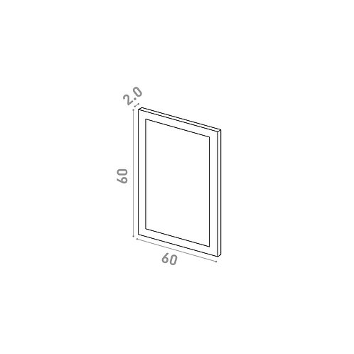 Porte 60X60cm | design cadre | laque mate