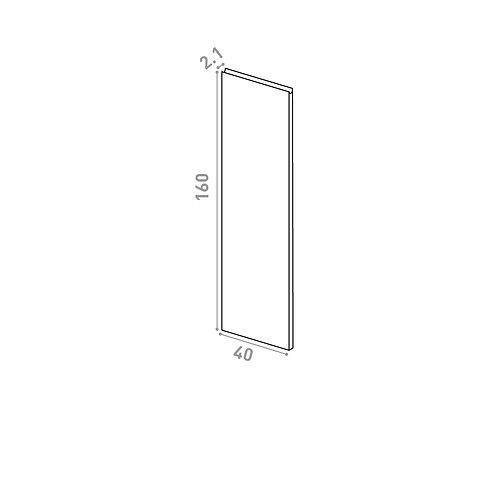 Porte 40x160cm | design U shape | chêne naturel