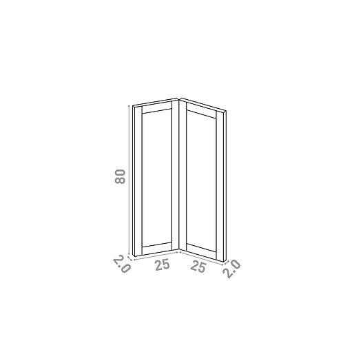Porte d'angle 25x80cm | design cadre | chêne peint