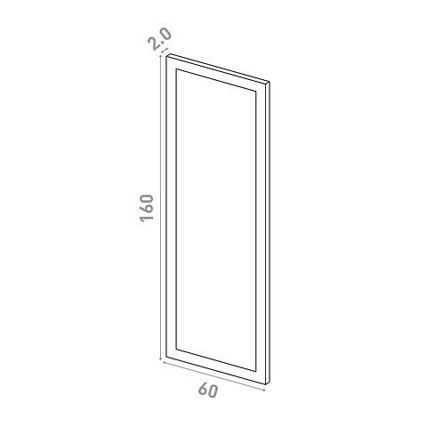 Porte 60X160cm   design cadre   laque mate
