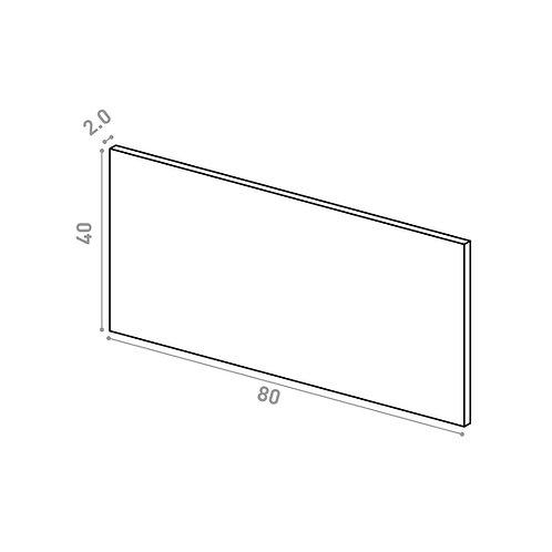 Tiroir 80X40cm | design lisse | noyer naturel (ou porte à ouv. vers le haut)