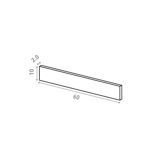 Tiroir 60X10cm | design lisse | noyer naturel