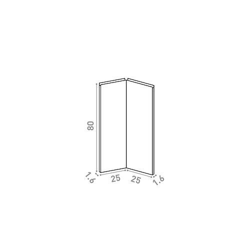 Porte d'angle 25x80cm | design U shape | laque mate