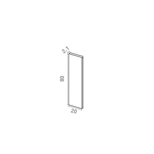 Porte 20X80cm | design U shape | chêne peint