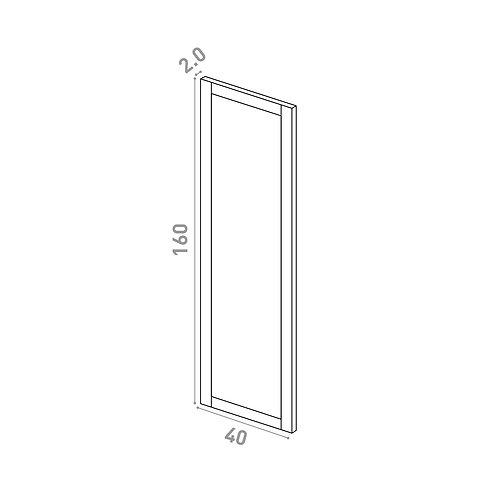 Porte 40x160cm | design cadre | chêne peint