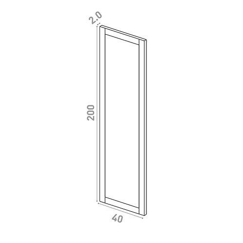 Porte 40X200cm | design cadre | chêne peint