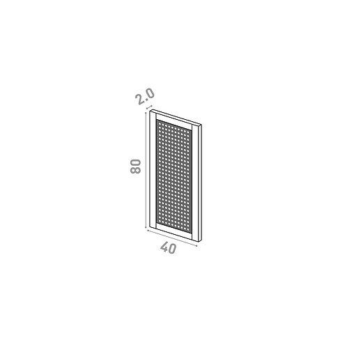 Porte 40x80cm | design cannage | chêne peint