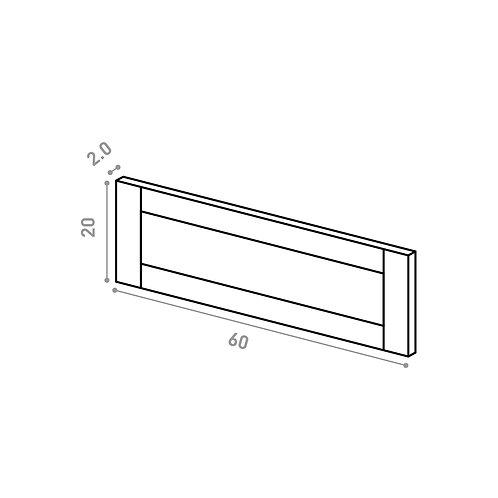 Tiroir 60X20cm | design cadre | chêne peint